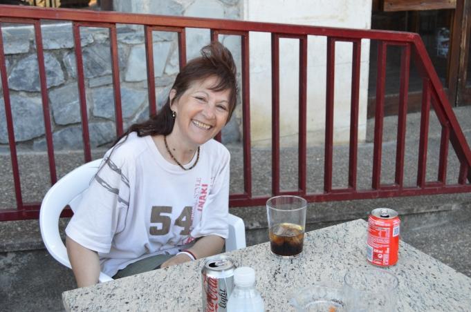 Emi at a cafe
