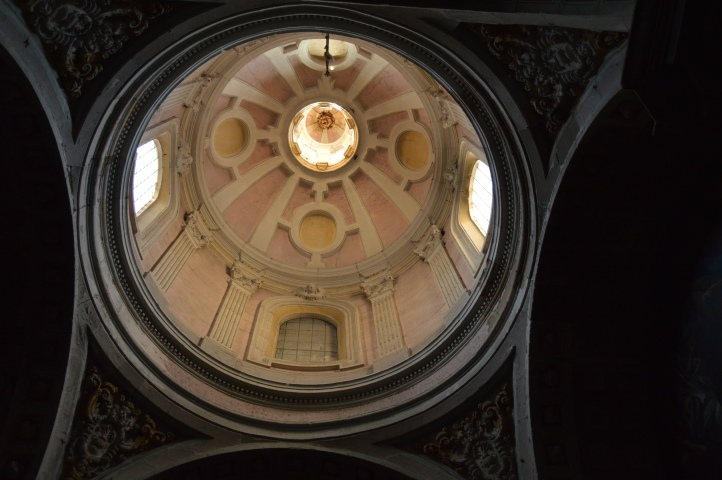 Looking up at Santa Maria