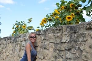 Jackie and Sunflowers
