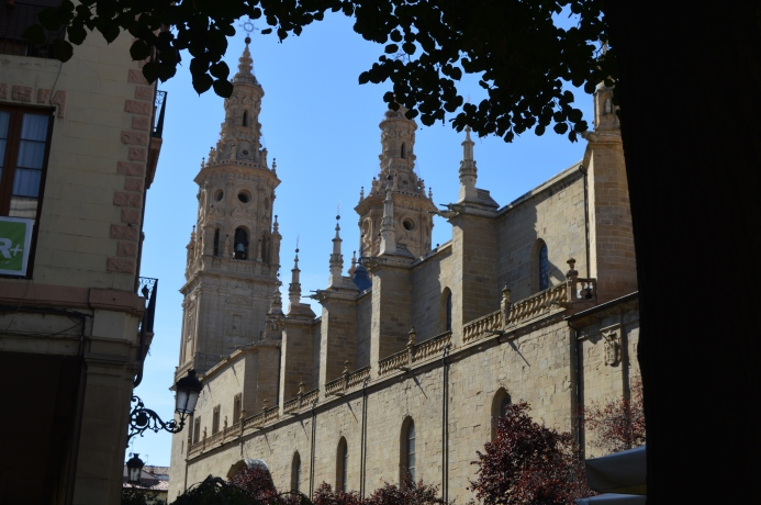 Cathedrals dominate the downtown skylines of Logrono