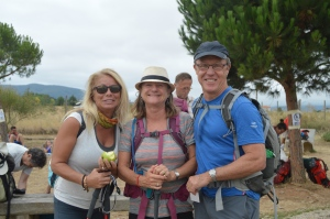 Jackie with Darrell and Arla from British Columbia, friends along the way.