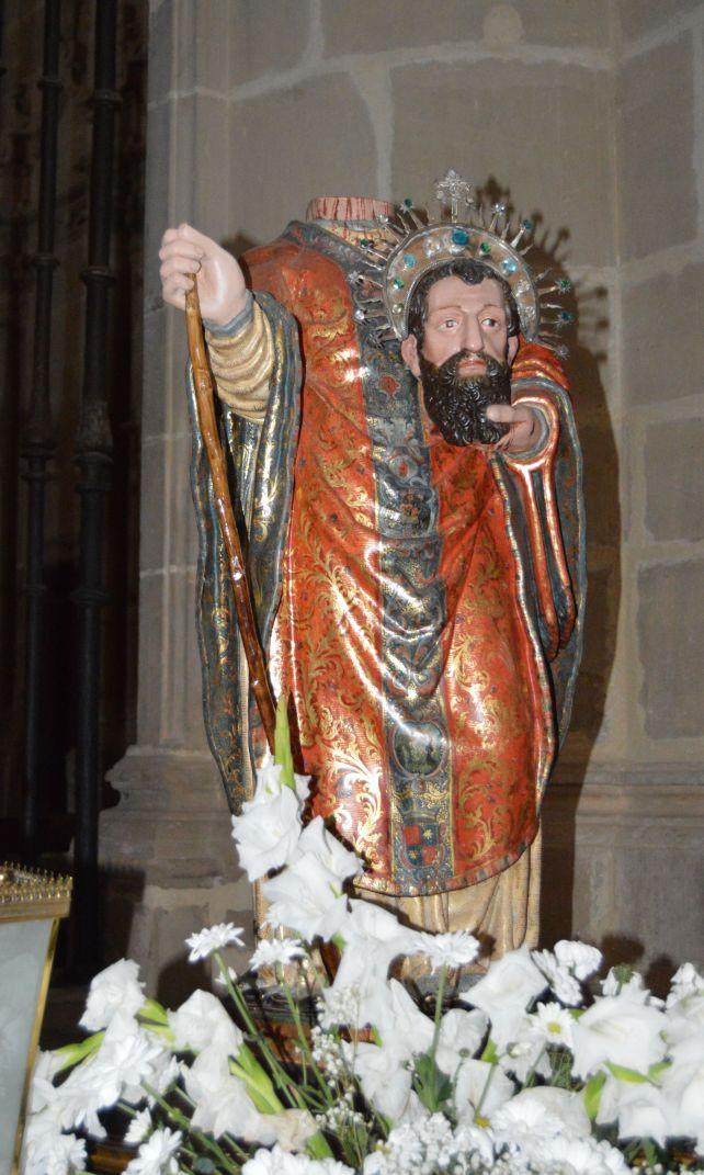 Beheaded Santiago at a Belorado cathedral. Harrad did it.