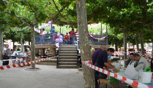 Prepping for a festival in Belorado