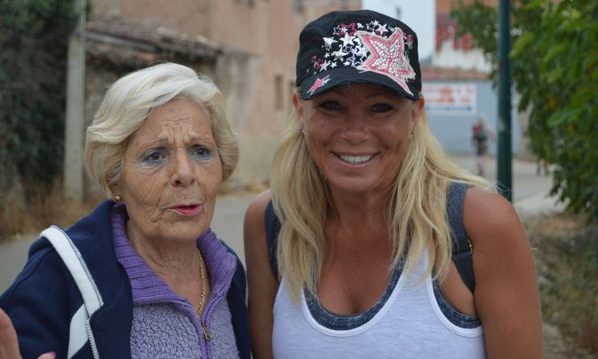 This beautiful lady offered her bread, then wouldn't stop talking, even for a photo. We didn't understand a word.
