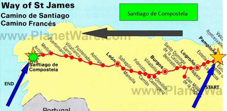 Camino Map Santiago