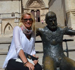 Jackie and Santiago in Burgos