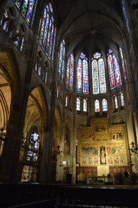 Leon Cathedral - Note that the windows nearly dwarf the 30 foot tall altar (lower right)