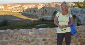 Jackie and 13th century bridge