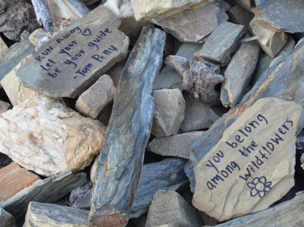 Stones = Run Away Let Your Heart Be Your Guide - You Belong Amond The Wildflowers