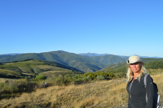 Near the heights of the Camino
