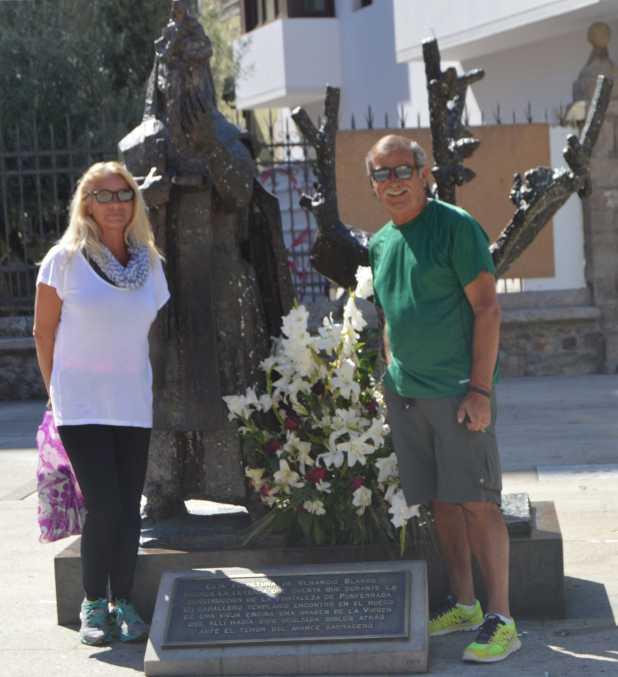 At monument Basilica de Santa Maria de la Encina