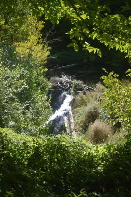 A waterfall along the route