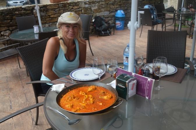 Best lunch of the trip--Las Herrerias de Valcarce