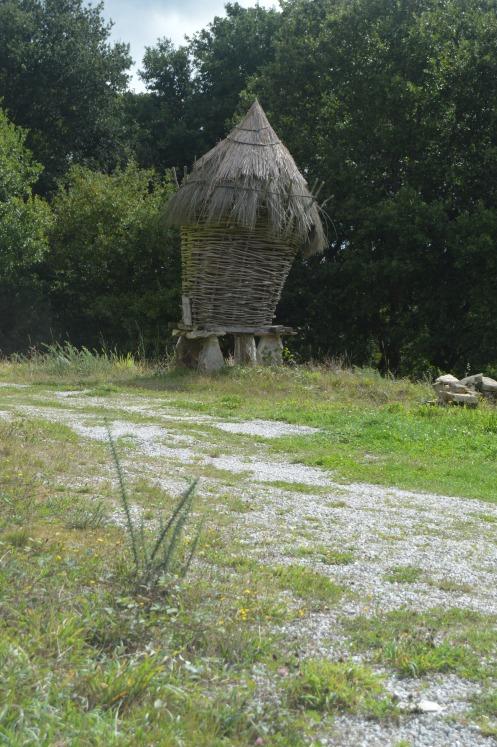 A very old corn crib.